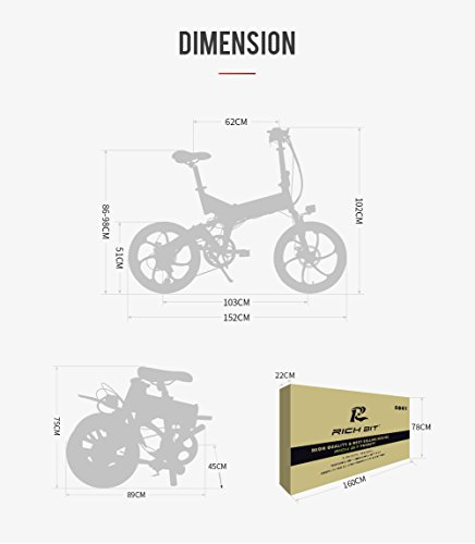 Rich Bit TOP-730 RT-730 48V 8Ah Full Suspension Folding Electric Bicycle
