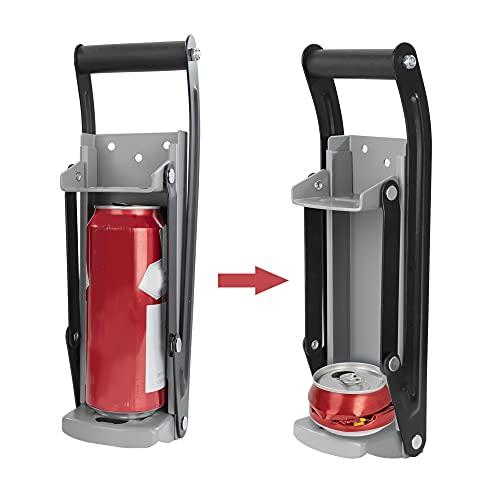Trituradora de Latas Montada en Pared Aplastador de Latas de Cervezas con Abridor de Botellas Herramienta para Reciclar Latas de Aluminio 33 x 9.5 cm