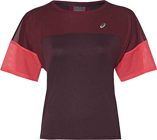 ASICS - Running-T-Shirts für Damen in Blau, Größe S