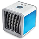 AnnQing Mini USB Ventilador de Aire portátil Ventilador Aire Acondicionado 7 Colores Luz de Escritorio Ventilador de refrigeración del Aire Humidificador Purificador para Dormitorio de Oficina