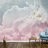 写真の壁紙北欧レトログレーピンククラウド壁画壁紙リビングルームベッドルーム抽象芸術壁画3D, 300cm×210cm