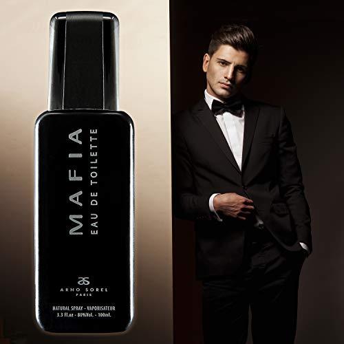 MAFIA Agua de tocador/Eau de toilette para Hombres 100 ML (3.3 Fl.oz.)  Fragancia de hombre Amaderada Aromática de SERGIO NERO