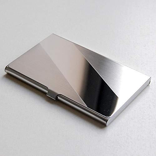 Caja de Almacenamiento de Escritorio Caja de tarjeta de visita creativa Tarjeta de crédito Tarjeta de Tarjeta Tarjeta de Tarjeta de Aluminio Caja de Metal Escritorio Encimera Caja de Almacenamiento Ti