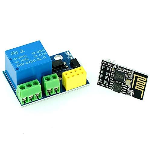 WLAN-Modul ESP-01 ESP8266 mit Relais Shield, 5-12V, für Arduino, IoT, Smart Home Anwendungen