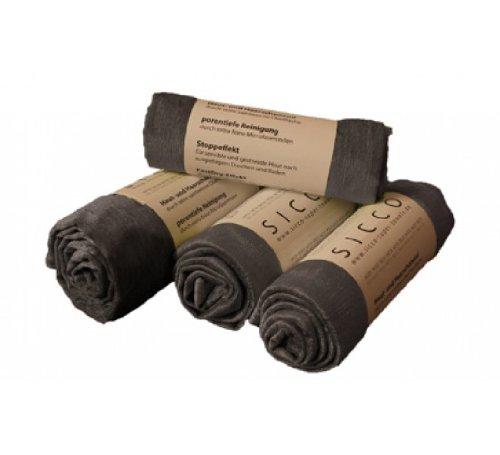Wirth SICCO Set Bodycare 2x Handtuch 60 x 90 cm / 1x Duschtuch 70 x 130 cm / 1x Seiftuch 3-er Pack Mikrofaser, Set, Handtuch Microfaser, anthrazit