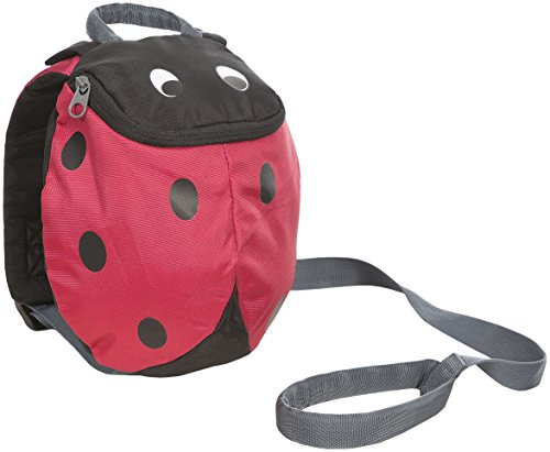 Trespass Ladybird, Red, Backpack with Safety Rein 3L, Red