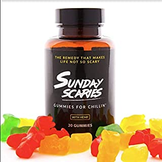 Sunday Scaries Hemp Extract Gummies w/Vitamins for That Cool, Calm & Collected Feeling - 10MG Each