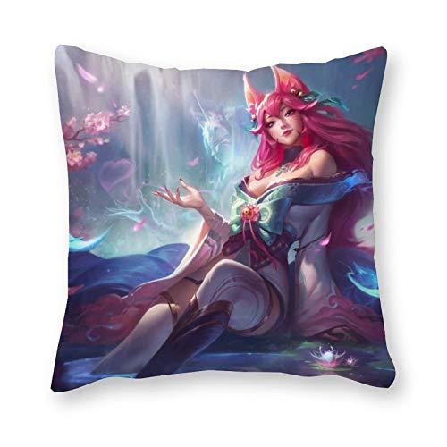 League of Legends - Almohada de lona para cojín (40 x 40 cm), diseño de arte pop