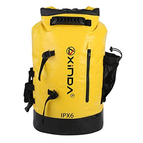 SM SunniMix Wasserdichter Packsack Rucksack Schwimmender Packsack Für Wassersportarten Angeln, Bootfahren, Kajakfahren, Surfen, Rafting, Camping - Gelb