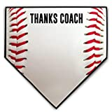 ChalkTalkSPORTS Baseball Stitches Home Plate Plaque | Thanks Coach | Ready to Autograph