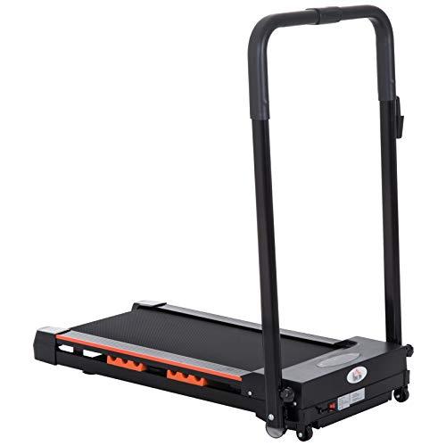 HOMCOM Cinta de Correr y Andar con Botón de Emergencia Pantalla LCD Mando a Distancia 1-6 km/h Potencia de Motor 380W Ahorra Espacio 105x56x108,5 cm Negro