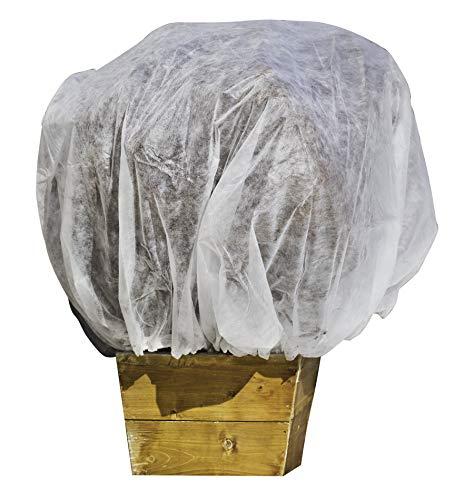 Windhager Winter Vliesmantel XXL, Thermovlies, Gartenvlies, Frostschutz, Kälteschutz für Sträucher und Kübelpflanzen, 2 x 2,4 m, 20 g/m², weiß, 06724