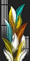 CHBOEN 帆布の絵 現代の北欧のアートの羽毛キャンバス絵画上の壁のアートポスタープリントの壁の写真のリビングルームのホームウォールクアドロスの装飾 (Color : W478-3, Size (Inch) : 50x100cm Unframed)