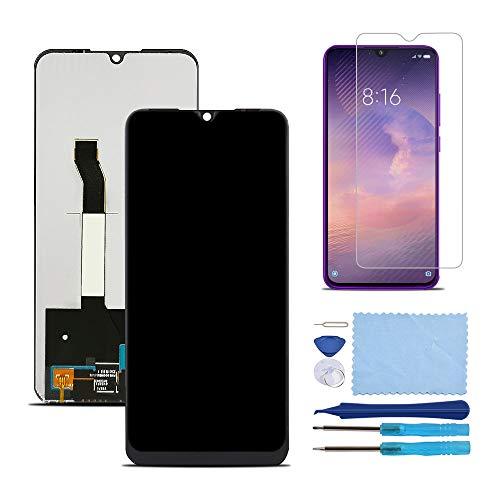 Pantalla LCD Táctil Asamblea Repuesto Compatible con Xiaomi Redmi Note 8 Negro con Herramientas + Película Templada