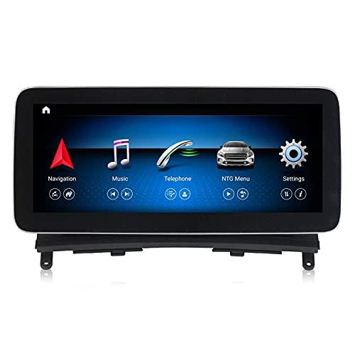 JIBO para Mercedes Benz Clase C W204 2008-2010 Carro Cabeza Unidad 10,25' Android 9.0 Auto Radio GPS Navegación IPS Pantalla Teléfono Control Multimedia Jugador Video Receptor