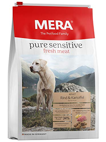 Mera Dog Hundefutter Pure Sensitive fresh meat Rind & Kartoffel High Protein, 4 kg