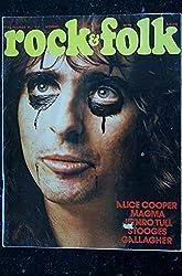 ROCK & FOLK 085 n° 85 FEVRIER 1974 COVER ALICE COOPER MAGMA JETHRO TULL STOOGES GALLAGHER