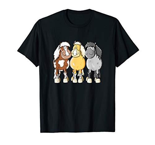 Shetlandpony für Shetty Freunde I Pferdemotiv I Pferd Pony T-Shirt