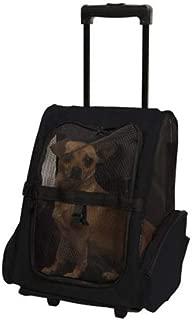 Double Shoulder Pet Cage Portable Pet Travel Bag Good Breathability Comfort Multicolor Optional CQOZ (Color : Black, Size : 43×30×50cm)