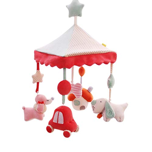 Why Choose YECGJZKAI New Mother's Gift Baby Toy Music Rotating Bed Bell Baby Rattle Plush Cloth Bed ...