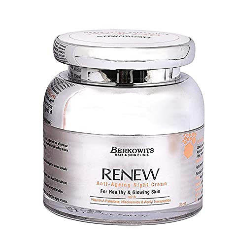 Glamorous Hub Berkowits Hair & Skin Clinics Renew Crema de noche antienvejecimiento, 30 ml