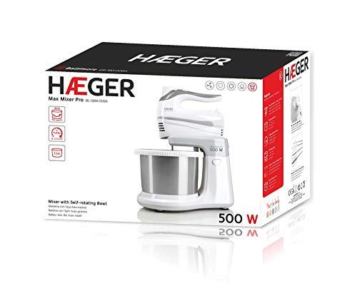 HAEGER MAX Mixer Pro - Batidora Amasadora con Bol, 500W, Bol Auto ...