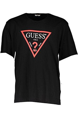 Guess M72I66K5NQ0 Camiseta, Nero (Jet Black W/Frost G), XXL (Talla del Fabricante: XXL) para Hombre