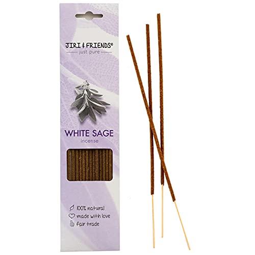 Encens de Sauge Blanche Jiri and Friends 100% naturels 15 bâtonnets.