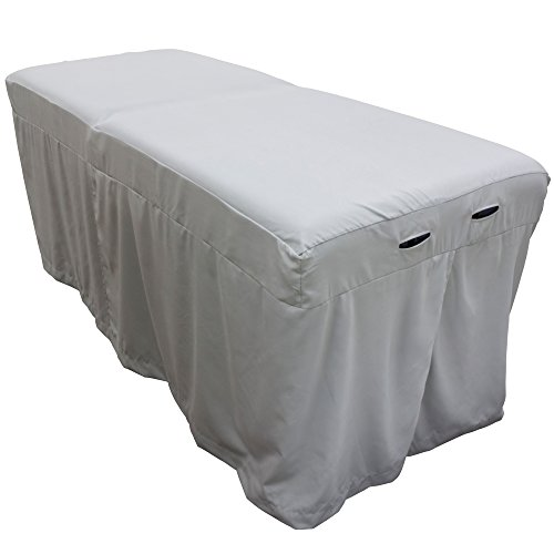 Microfiber Massage Table Skirt - Mirage Gray
