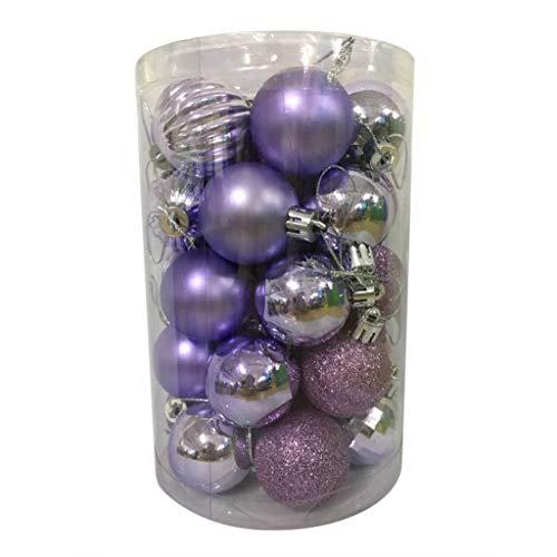 Fasclot 34PC 40mm Christmas Xmas Tree Ball Bauble Hanging Home Party Ornament Decor Home & Garden Home Decor