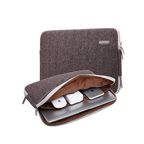 Sleeve Case For Laptop 11 12 13 14 15 15.6 17 inch For MacBook Air Pro 13.3 15.4,Laptop Bag PC Tablet Case Cover for HP Dell-Woolen Brown-11-inch