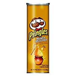 Pringles Potato Crisps Chips, Honey Mustard Flavored, 5.5 oz Can