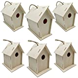 unfinished bird house - 12pcs Unfinished Wood Birdhouses DIY Wooden Bird House for Crafts and Kids Arts Unpainted Bird House to Paint