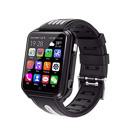 FDRYO Reloj Inteligente 4G para niños, Reloj Inteligente Impermeable para niños para iOS Android, con Tarjeta SIM y Tarjeta TF, cámara Dual, WiFi, GPS, rastreador, Reloj, Android SmartWatch-UNA