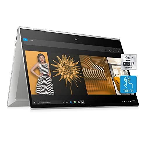 HP ENVY x360 Convertible 15-inch FHD Touchscreen 2-in-1 Laptop, 10th Gen Intel Core i7-10510U, 8GB RAM, 512GB SSD, Windows 10 Home, Fingerprint Reader, Webcam Kill Switch (15-dr1010nr, Natural Silver)
