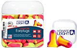 Howard Leight Laser Lite Foam Disposable Earplugs for Sleeping, Blocking Snoring Sounds, 50 Count in a Jar