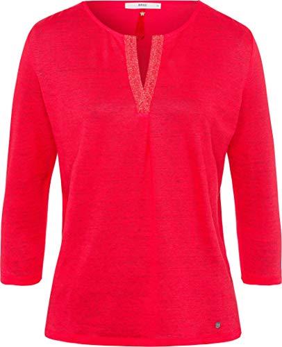 BRAX Damen Style Leinen Bluse, Summer RED, X-Large
