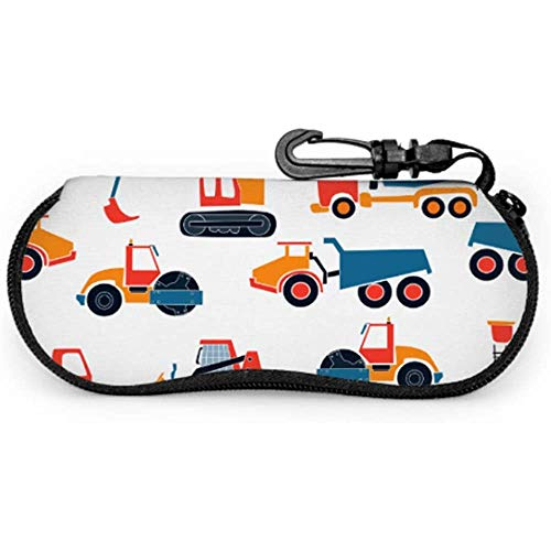 Spielzeug Traktor Kind Retro kreative Kunst Malerei Cartoon Animation Fall Sonnenbrillen CaseZipper Soft Case Brillenetui Tasche