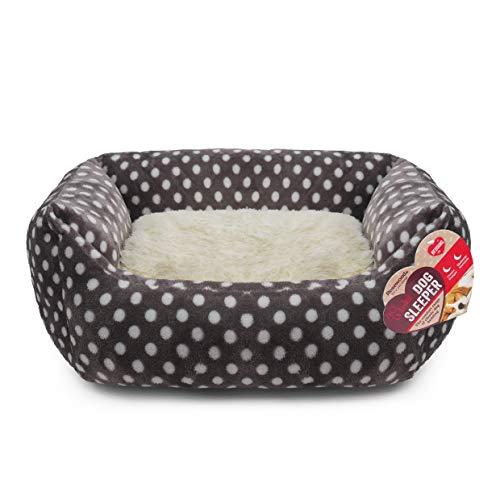 40 Winks Rosewood Pequeño Perro/Gato para Dormir Cama, 40,6cm, Gris/Crema Spot