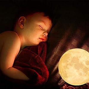 Lámpara de luna en 3D