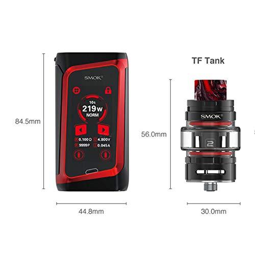 SMOK Morph 219 Kit 219W TF Vaporizer 6ML Atomizer Electronic Cigarette Touch Screen Box Mod Vape kein Nikotin und kein Rauchöl. (Black Red)