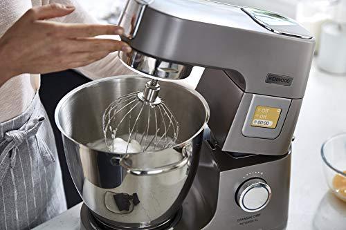 Kenwood Titanium Chef Patissier XL KWL90.034SI – Küchenmaschine mit integrierter Waage & 7 L Rührschüssel mit Wärmefunktion, 1400 Watt, inkl. 4-teiligem Patisserie-Set, silber - 4
