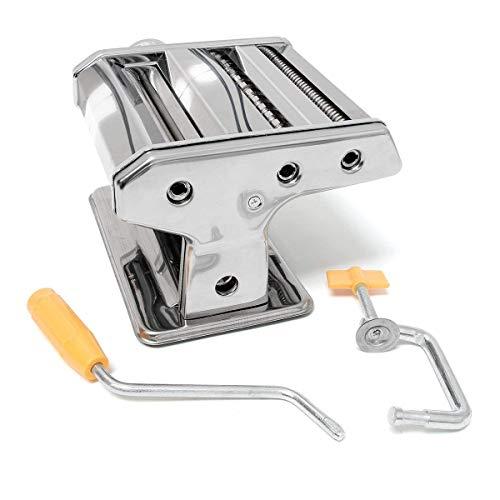 Quantio TOP Nudelmaschine Pastamaschine Pasta Stahl verchromt