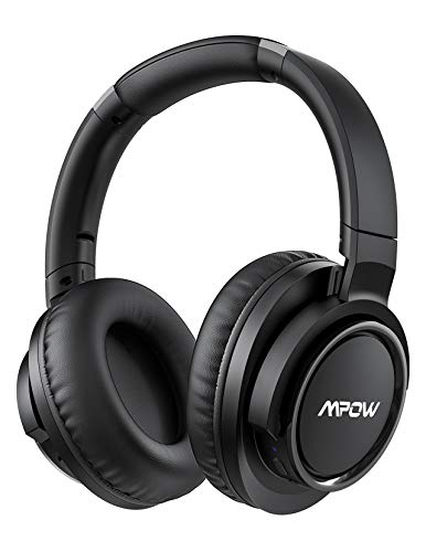 Mpow H18 50Hrs Noise Cancelling Headphones, Hi-Fi Deep Bass Bluetooth Headphones Over Ear, Foldable Headset with CVC6.0 Mic, Memory Foam Ear Cups, Wireless & Wired for Cellphone PC TV Travel Work
