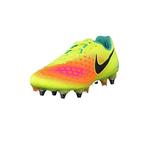 Nike Herren Magista Opus II SG-PRO weiche Rasenplätze Fußballschuhe, Gelb (Volt gelb/Total Orange/Pink Blast/Schwarz), 44 EU