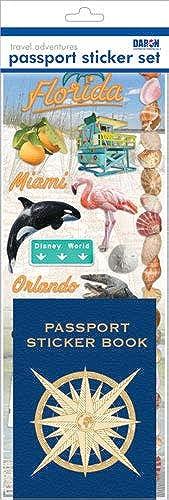 Passport Sticker Sets PP59222 Passport oder Scrapbooking Aufkleber Set-Florida 2
