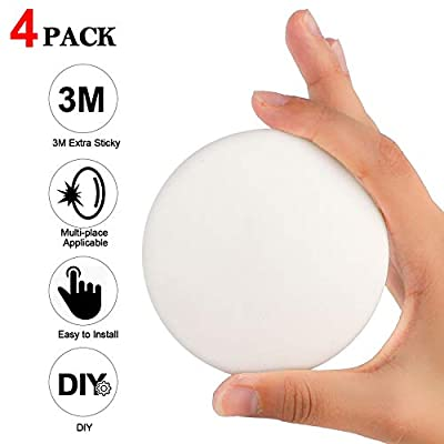 """Door Stopper Wall Protector, 4 PCS 3.1"""" Larger Silicone Door Handle Bumper, Wall Protectors with Self Adhesive 3M Sticker for Protecting Wall"""