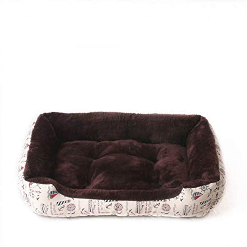 Plush Dog Mat Cat Nest Rectangle Machine Washable Kennel for Small Medium Large Dogs Cozy Pet Sofa Lounger Bed