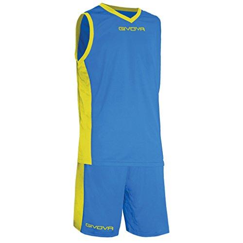 Givova Power Tenue de Basket, Homme, Power, Multicolore (Azzurro/Giallo)