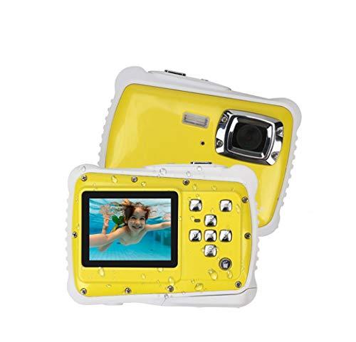 SHENGY Waterdichte digitale camera met 4 x digitale zoom, 2 inch LCD-videoonderwatercamerarecorder (12 MP) voor kinderen, geel